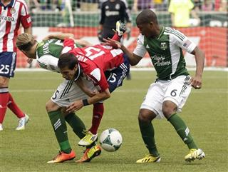 Eric Avila, Darlington Nagbe, Michael Harrington