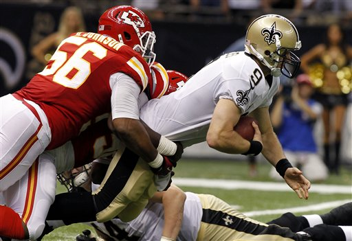 Drew Brees, Derrick Johnson