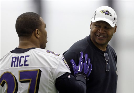 Jim Caldwell, Ray Rice