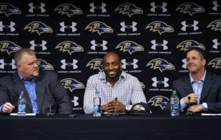 Elvis Dumervil, John Harbaugh, Don Martindale