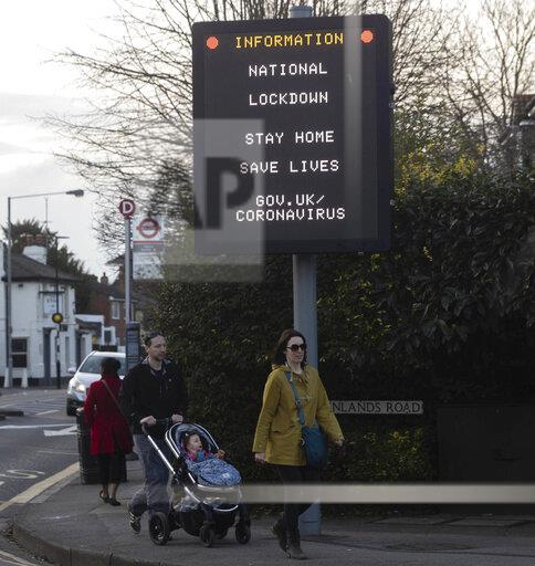Signs of the coronavirus in Staines, England, UK - 2/20/21