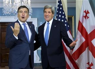 John Kerry, Mikhail Saakashvili