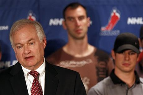 Donald Fehr, Sidney Crosby, Zdeno Chara