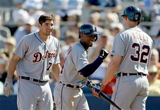 Austin Jackson, Don Kelly, Nick Castellanos