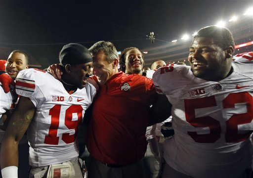 Urban Meyer, Orhian Johnson, Johnathan Hankins