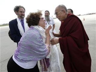 Dalai Lama, Carolyn Weaver,  Ron Marks, Neal Guidry,
