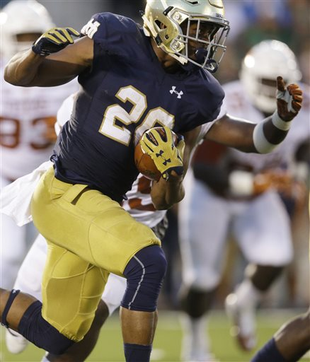 what time is college football on today final score of notre dame game