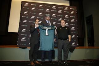Lane Johnson, Howie Roseman, Chip Kelly