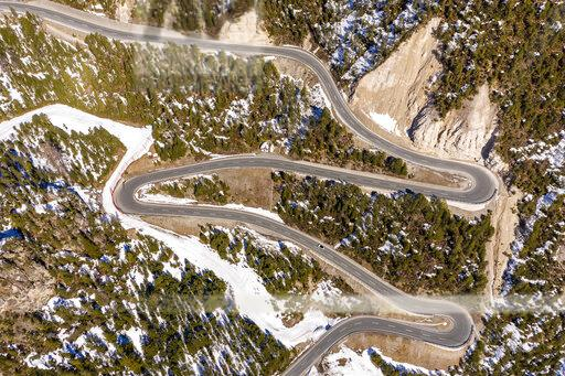 Switzerland, Val Muestair, Fuorn Pass, aerial view
