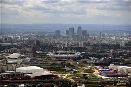 london olympics, aerial 