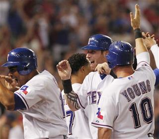 Nelson Cruz, Josh Hamilton, Michael Young