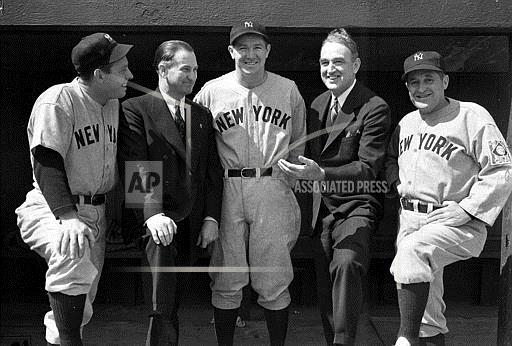 Associated Press Sports Dist. of Columbia United States Professional Baseball (American League) YANKEES POLITICIANS