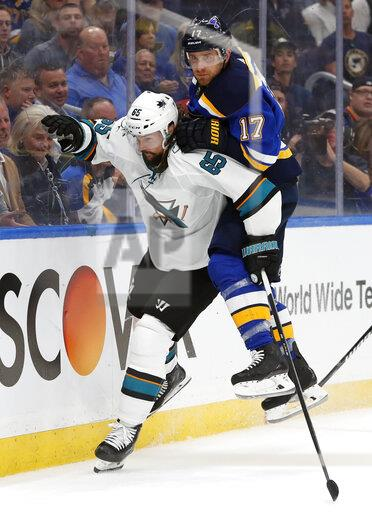 Sharks Blues Hockey