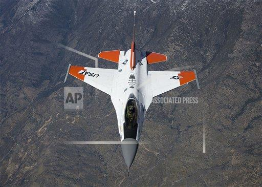 Creative AP Photo/Stocktrek Images A Military   horizontal An F-16 Fighting Falcon during an aerial flight test.