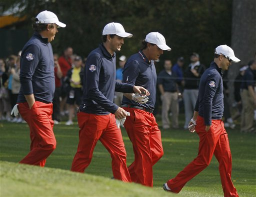 Jason Dufner, Keegan Bradley, Phil Mickelson, Zach Johnson