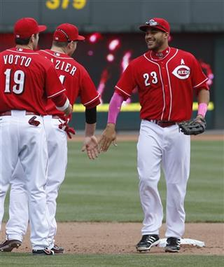 Donald Lutz, Todd Frazier, Joey Votto