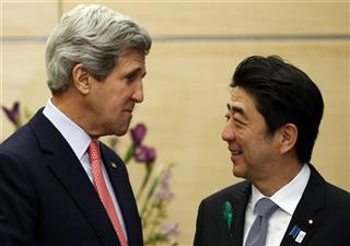 John Kerry, Shinzo Abe