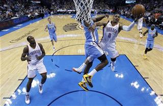 Russell Westbrook, Kenneth Faried, Serge Ibaka