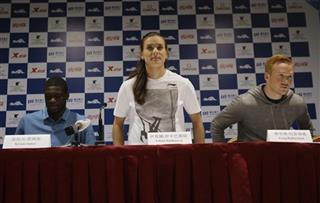 Kirani James, Yelena Isinbayeva, Greg Rutherford