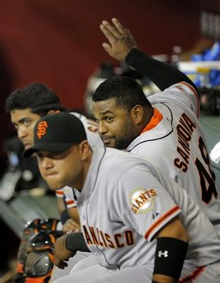 Hector Sanchez, Pablo Sandoval, Guillermo Quiroz