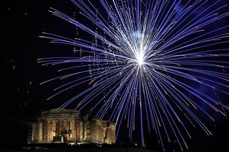 APTOPIX Greece New Years Celebrations