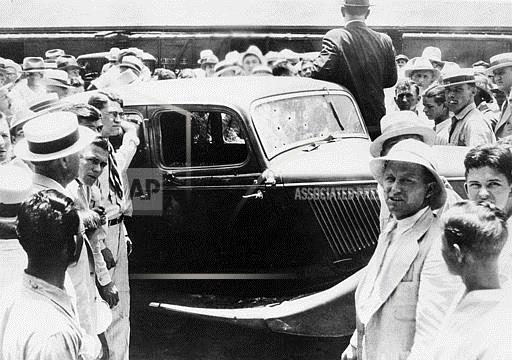 Associated Press Domestic News Louisiana United States BONNNIE AND CLYDE CAR