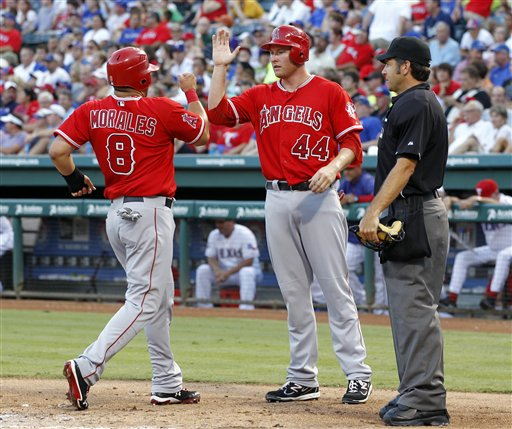 James Hoy, Kendrys Morales, Mark Trumbo