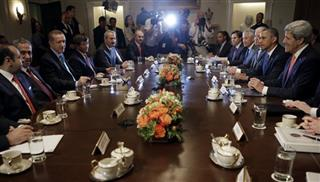Barack Obama, Recep Tayyip Erdogan, Chuck hagel, John Kerry, Joe Biden 