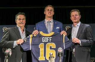 Jeff Fisher, Jared Goff, Les Snead