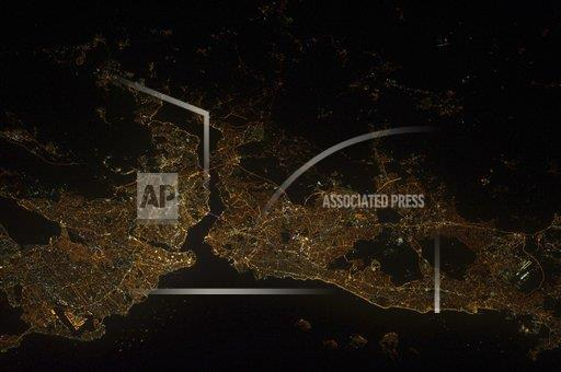 Creative AP Photo/Stocktrek Images A Outer Space  Turkey horizontal A nighttime view of Istanbul, Turkey.
