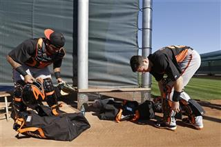 Buster Posey, Hector Sanchez