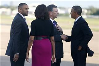 Barack Obama, Michelle Obama, Marc Veasey, Mike Rawlings