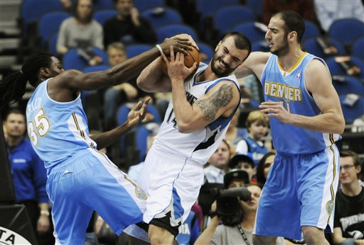 Nikola Pekovic, Kosta Koufos, Kenneth Faried