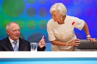 Christine Lagarde, Wolfgang Schauble