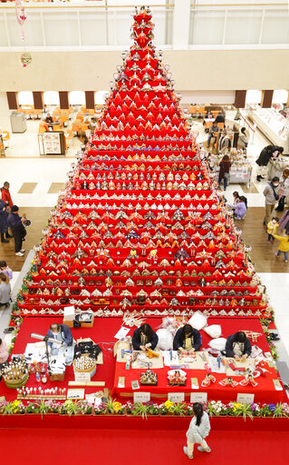 Huge Hina Doll stairs in Japan