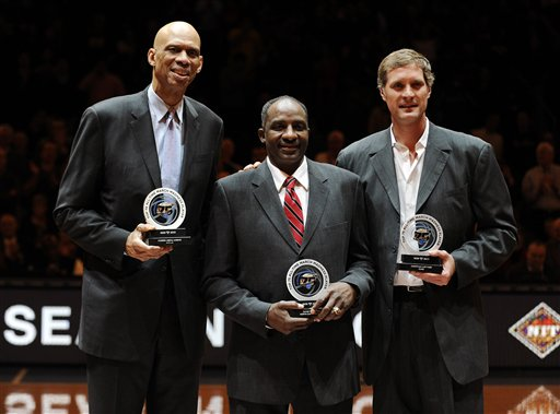 Kareem Abdul-Jabbar, Christian Laetttner, David Thompson