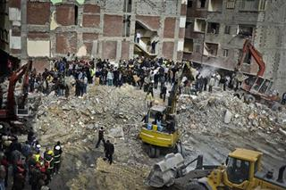 Mideast Egypt Building Collapse
