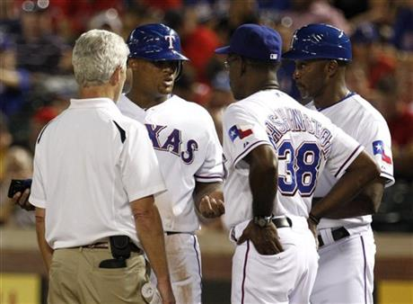 Adrian Beltre, Ron Washington, Gary Pettis, Jamie Reed