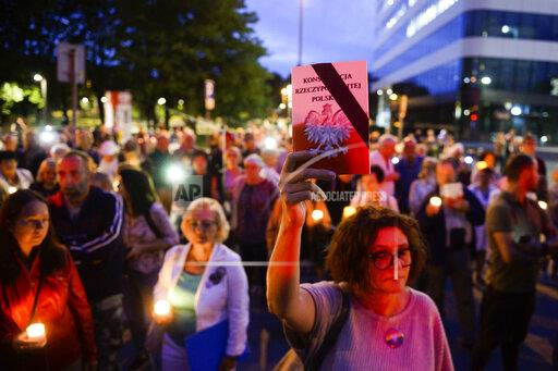 Protest against harassment of judges in Krakow, Poland - 22 Aug 2019