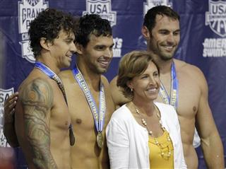 Leslie Berens, Ricky Berens, Anthony Ervin, Matthew Targett