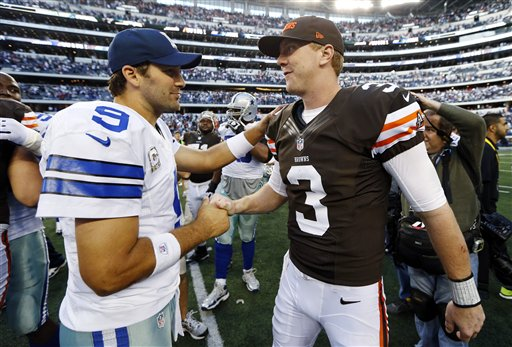 Brandon Weeden, Tony Romo