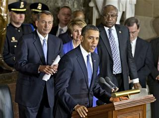 James Clyburn, Barack Obama, John Boehner, Nancy Pelosi