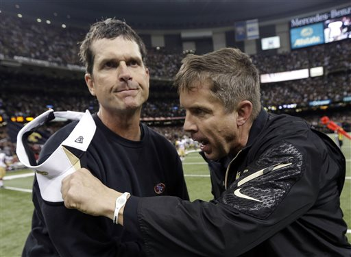 Jim Harbaugh, Sean Payton