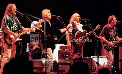 Associated Press Domestic News Massachusetts United States Entertainment, celebrities CROSBY STILLS NASH YOUNG TOUR