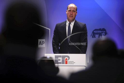 Prince William at the 2018 Illegal Wildlife Trade Conference