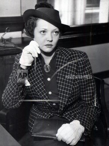 Associated Press Domestic News United States Entertainment SYLVIA SIDNEY