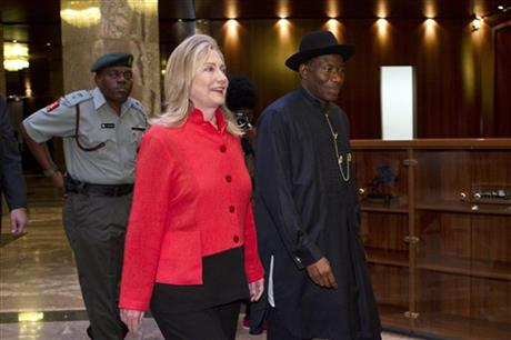 Hillary Rodham Clinton, Goodluck Jonathan