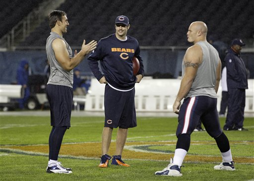 Jay Cutler, Owen Daniels, Chris Myers