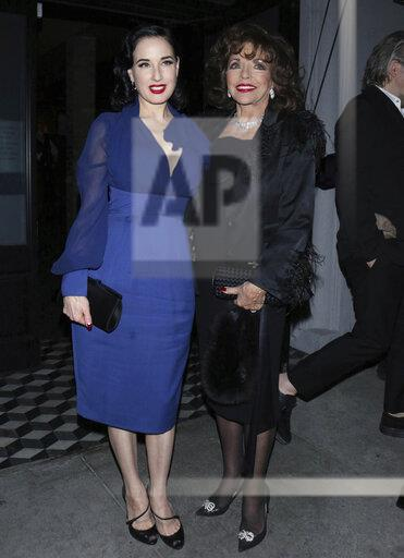 Dita Von Teese and Joan Collins are seen at Craig's - 2/12/20