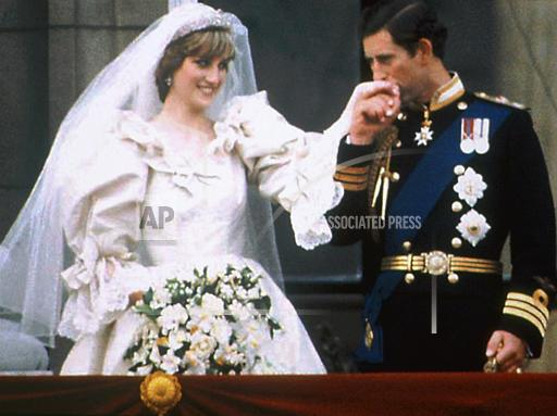 Associated Press International News United Kingdom England ROYAL WEDDING CHARLES DIANA